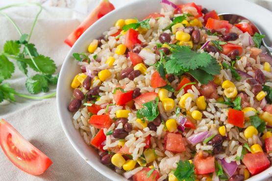 Baja black beans corn and rice recipe genius kitchen ccuart Choice Image