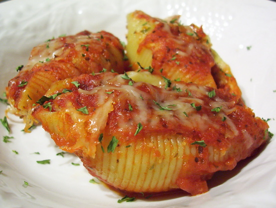 Recipe for beef stuffed pasta shells