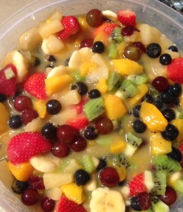 fruit fresh fruit salad with pudding
