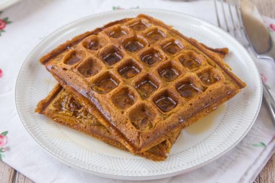 Spiced Pumpkin Waffles Recipe - Food.com