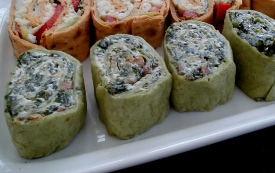 Spinach Pinwheel Appetizers