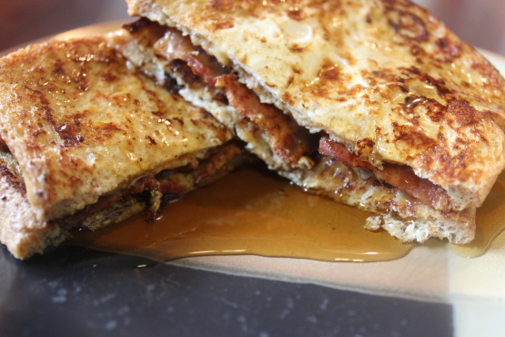 recipe: french toast with bacon and cheese [32]