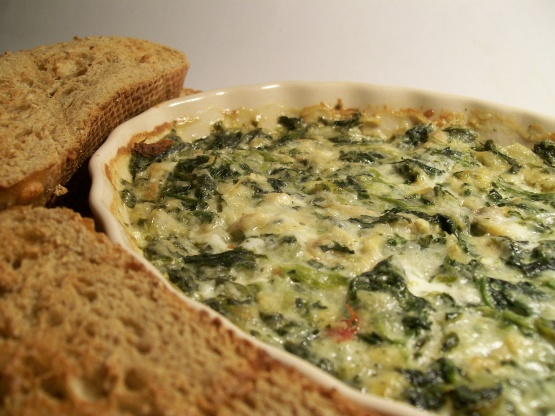 Absolutely Wonderful Cheesy Creamy Spinach Artichoke Dip Recipe