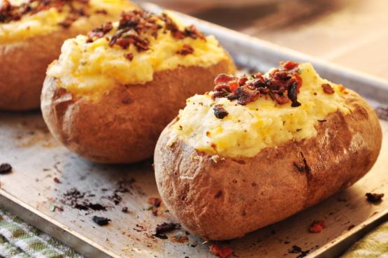 Twice stuffed potatoes easy recipes
