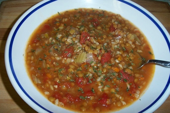 Italian Lentil And Barley Soup Recipe Food Com