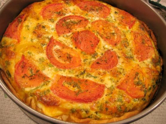 Crustless Zucchini And Tomato Quiche RecipeFood.com