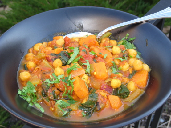 Sweet Potato Curry With Spinach And Chickpeas Recipe - Food.com