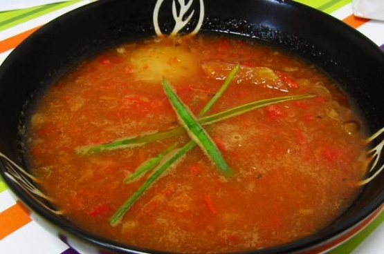 Roasted Tomato Pepper And Red Onion Soup Recipe Red