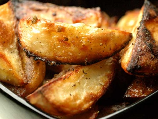 Greek potatoes oven roasted and delicious recipe genius kitchen ccuart Image collections