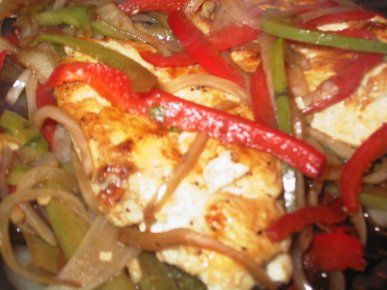 Balsamic Chicken Breasts With Peppers And Onions Recipe Genius Kitchen