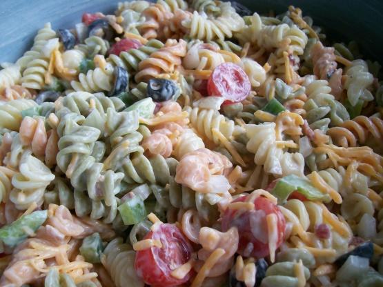 Ranch Pasta Salad Recipe Genius Kitchen