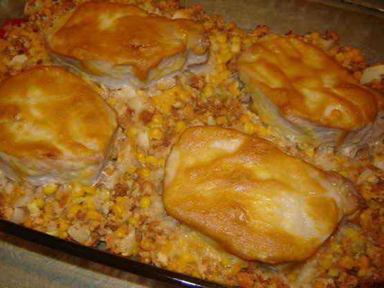 Pork chops with stuffing recipes