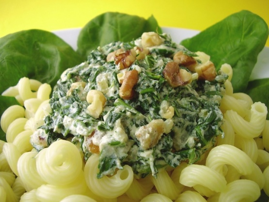 Spinach and cheese pasta sauce recipe