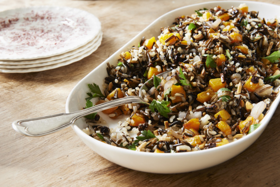 Wild Rice And Butternut Squash Stuffing With Almonds Recipe - Food.com