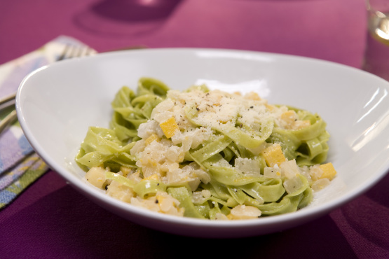 Fettuccine With Yellow Squash And Parmesan-Lemon Cream ...