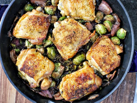 Red Wine Chicken Skillet