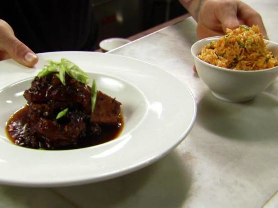Adobo Pork Shanks With Fried Rice