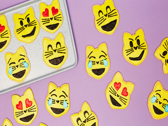Emoji Cat Sugar Cookies