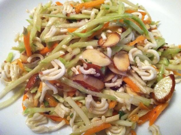 Asian Ramen Noodle Coleslaw Recipe - BettyCrockercom