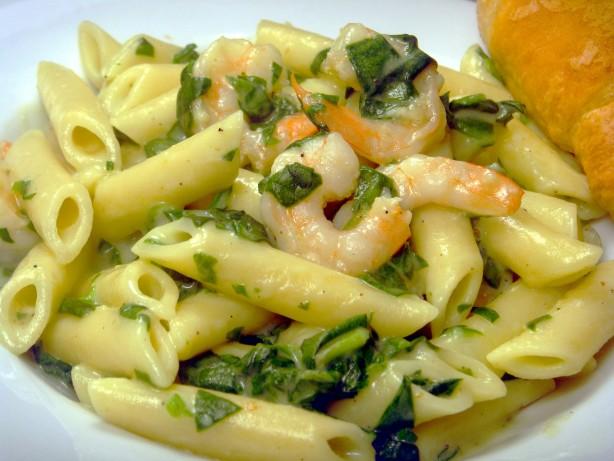 Easy Shrimp Florentine And Penne Pasta Recipe Food Com