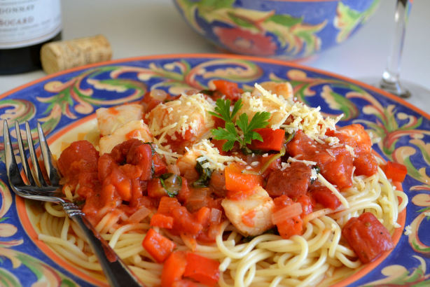 Angel Hair Pasta With Scallops And Tomatoes Recipes — Dishmaps