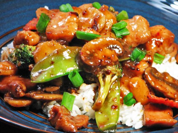 Chinese barbecue pork stir fry recipe