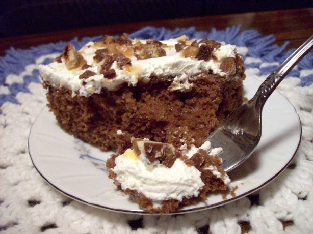 Candy bar cake recipe for Food bar recipes