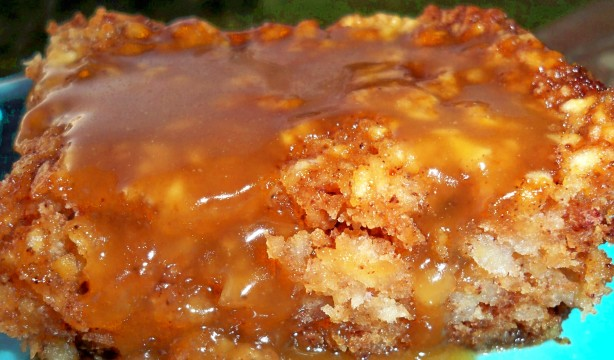 October apple cake with hot caramel sauce recipe for October recipes