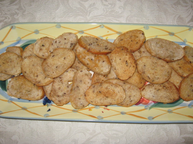 Toasted Baguette Slices Recipe Food Com