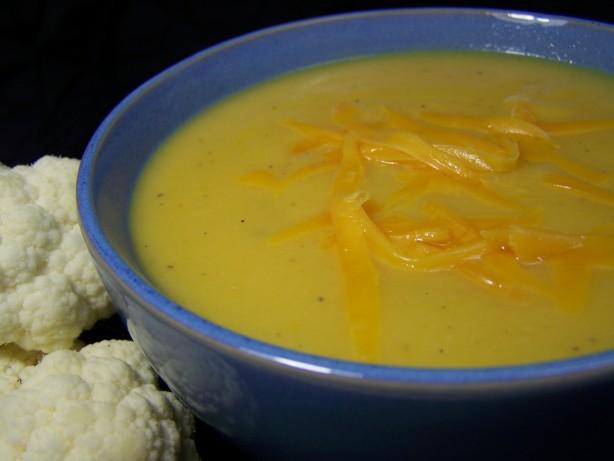 Cauliflower-Cheddar Soup Recipe - Food.com