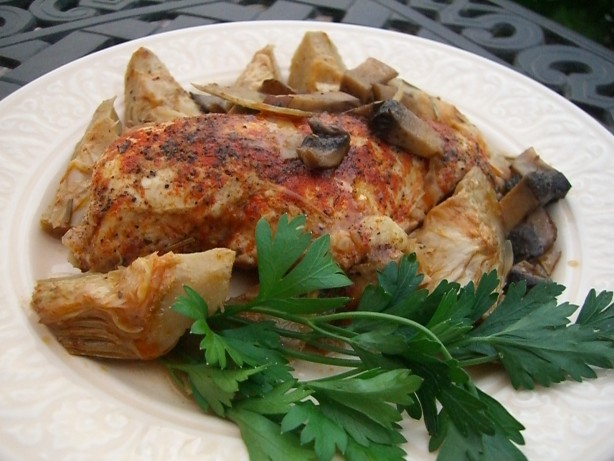 Chicken With Artichoke Hearts And Mushrooms Recipe - Food.com