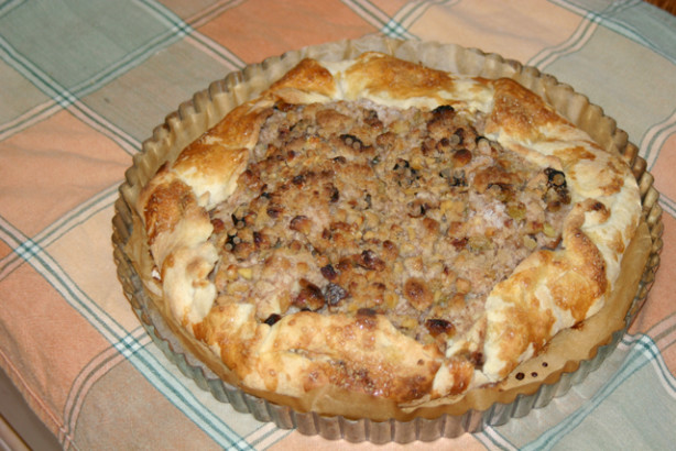 Apple Galette With Walnuts And Raisins And A Streusel Topping Recipe ...