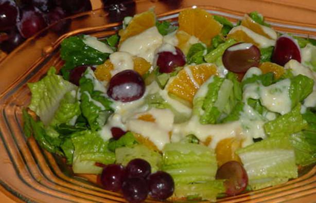 Fruit And Lettuce Salad With Orange-Yogurt Dressing Recipe ...
