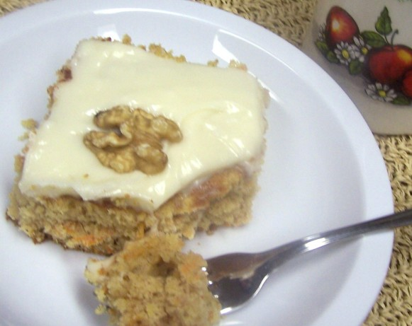 Low-Fat Carrot Cake With Cream Cheese Frosting Recipe - Food.com