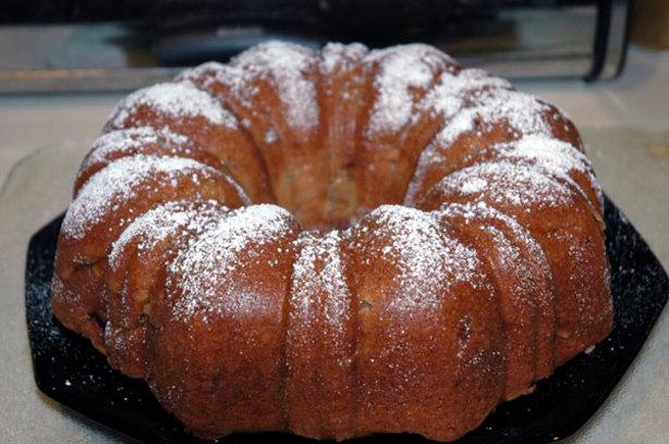 Upside Down Apple Spiced Cake