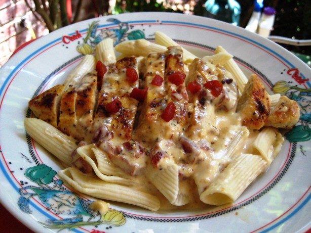 Pasta With Chicken And Roasted Red Pepper Cream Sauce Recipe - Red ...