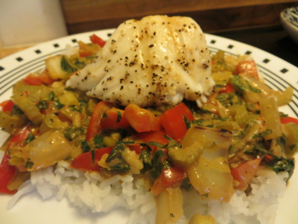 Broiled Tilapia With Thai Coconut- Curry Sauce Recipe ...