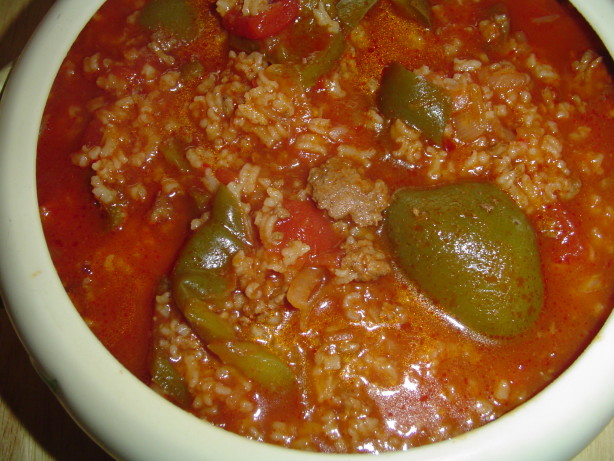 My Stuffed Bell Peppers Soup Recipe - Food.com