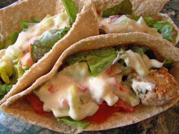 ... Turkey Meatball Sandwiches Pita Or Wrap) Recipe - Greek.Food.com