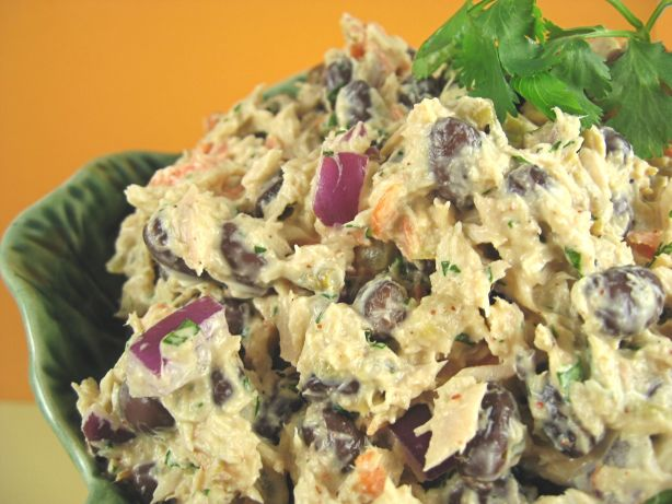Black bean tuna salad recipe for Tuna fish salad calories