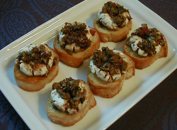 Marinated Goat Cheese Rounds With Crostini Recipe - Food.com