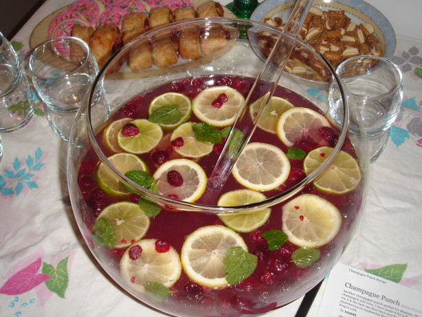 Cranberry Champagne Punch Food Network