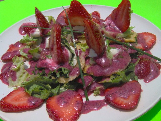 Wild Strawberry Salad W Pepper Toasted Parmesan Crisps And Bl Recipe ...