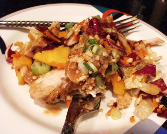 Chicken Mango Slaw Recipe — Dishmaps