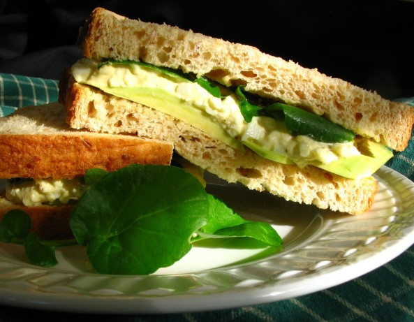 Egg Salad Sandwich With Avocado And Watercress Recipe - Food.com