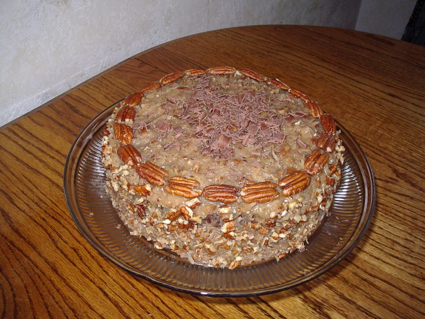 German Chocolate Layer Cake With Coconut Pecan Frosting Recipe - Food ...