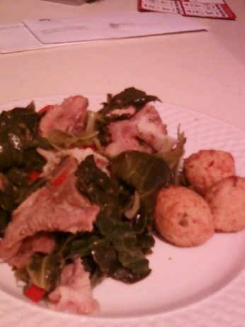 how to cut up turnip greens
