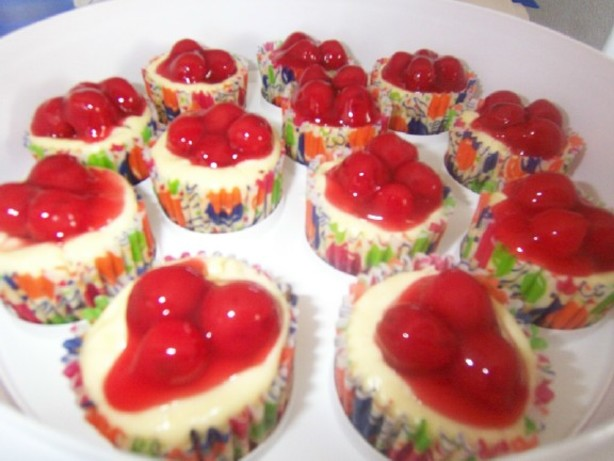 Individual Mini Cherry Cheesecake Cups Recipe Food Com