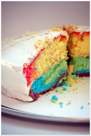 how to make a rainbow cake with cake box mix
