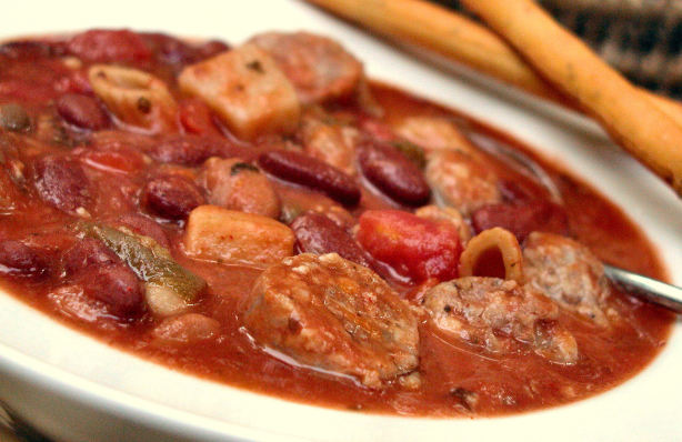 Sausage And Red Bean Stew Recipe - Food.com
